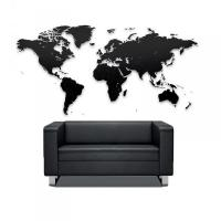 Puzzle mapa světa - černá (100x60 cm)