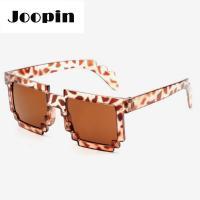 Mozaikové sluneční brýle 8 bit pixel (Růžové)