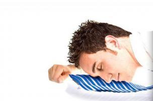 Nafukovací kravata na spaní (Bílá)